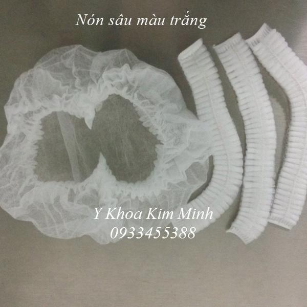 Nón sâu trùm tóc màu trắng - Y Khoa Kim Minh 0933455388