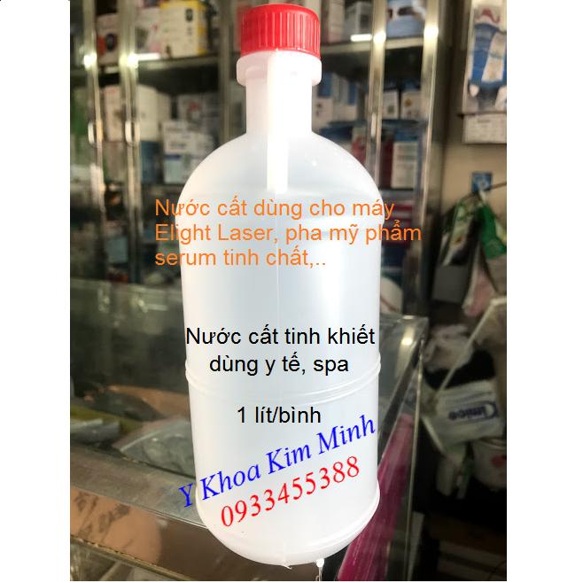 Nước cất tinh khiết dùng cho ngành y tế, thẩm mỹ viện dùng cho máy Elight Laser, pha mỹ phẩm serum chăm sóc da - Y Khoa Kim Minh 0933455388