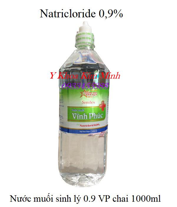 Nước muối sinh lý VP 1000ml, 12 chai 1 thùng, bán giá sỉ tại Tp Hồ Chí Minh - Y Khoa Kim Minh