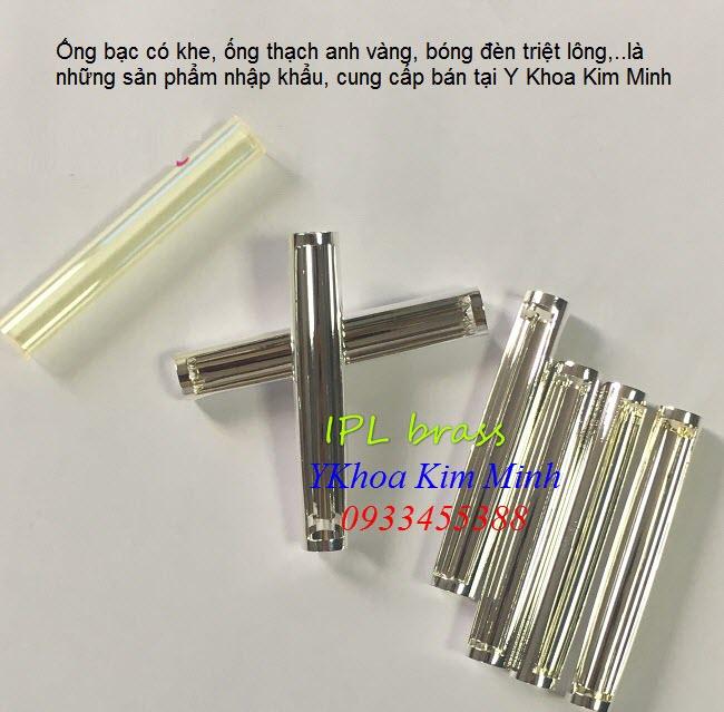 Ống bạc có khe tập trung sáng trong tay cầm máy triệt lông Elight OPT - Y Khoa Kim Minh 0933455388
