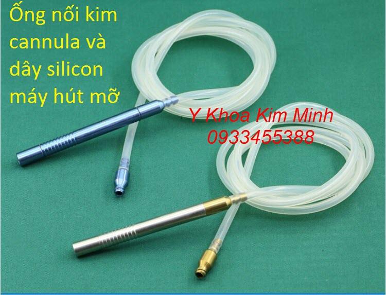 Đầu ống nối kim cannula bằng kim loại và dây hút mỡ bằng silicon
