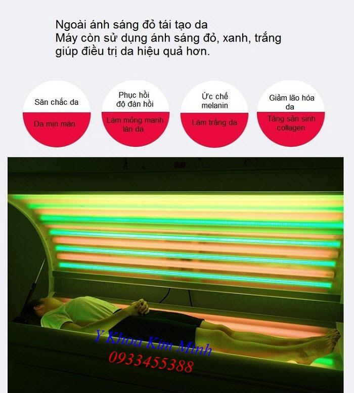 Phi thuyền hấp trắng da vô cực 3 màu nano sinh học - Y Khoa Kim Minh