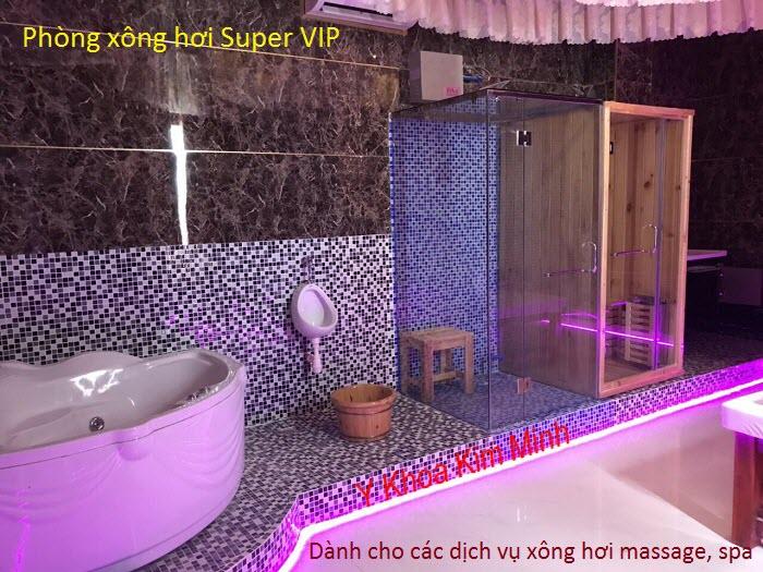 Lắp đặt phòng xông hơi Super VIP dùng cho các dịch vụ massage và thẩm mỹ viện spa - Y khoa Kim Minh