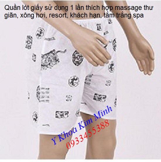 Quan lot giay dung 1 lan cho nam tam trang xong hoi massage thu gian - Y Khoa Kim Minh 0933455388