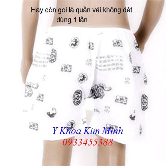 Quần lót Spa Nam vải không dệt sử dụng 1 lần - Y Khoa Kim Minh 0933455388