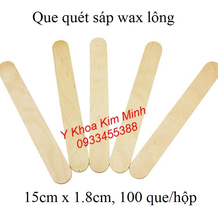 Que gỗ dùng quét sáp wax lông body - Y khoa Kim Minh