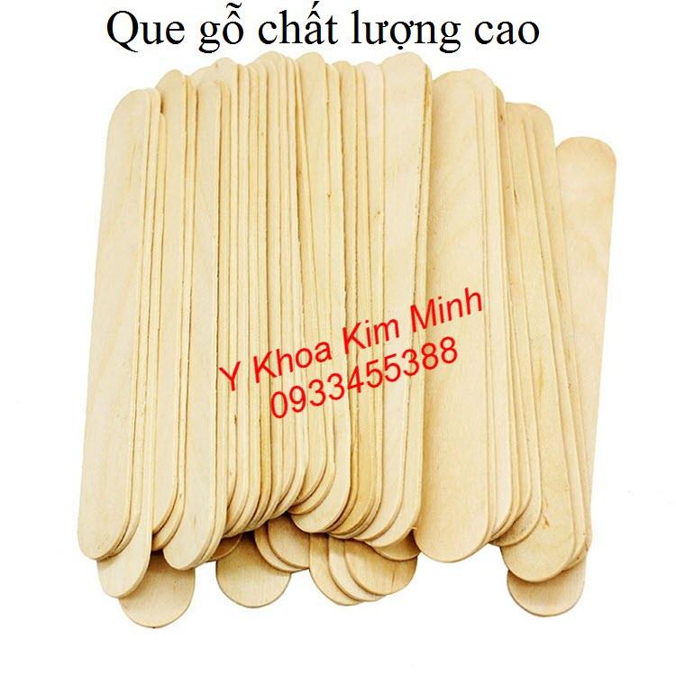Que gỗ dùng quét sáp wax tẩy lông body - Y khoa Kim Minh
