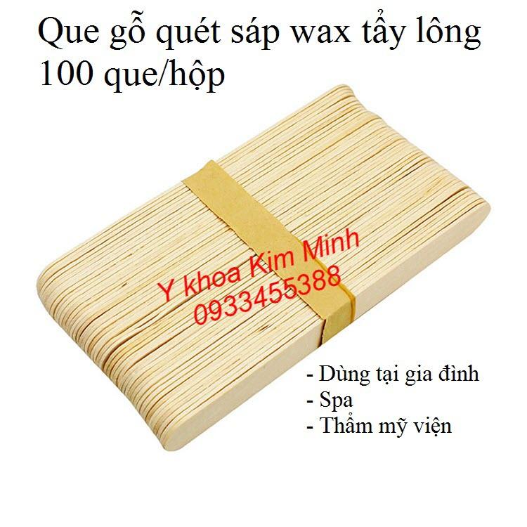 Que gỗ dùng quét sáp wax lông body, tay chân - Y khoa Kim Minh