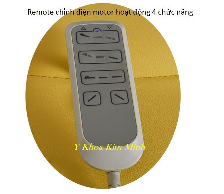 Remote chỉnh 4 motor hoạt động của giường tiêm fillerr KY-4002 - Y Khoa Kim Minh