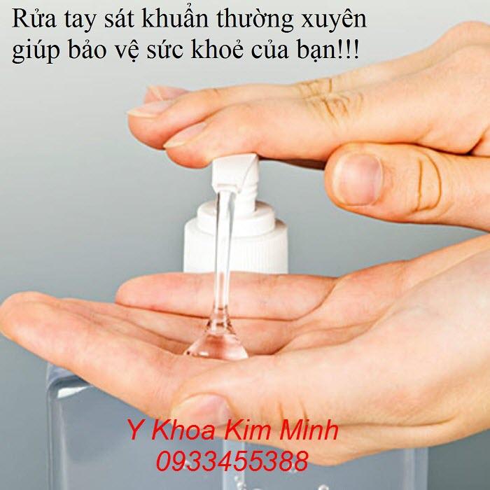 Dùng dung dịch rửa tay nhanh giúp bạn bảo vệ sức khoẻ của bạn tốt nhất - Y khoa Kim Minh