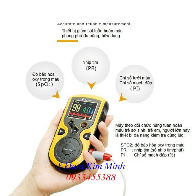 SPO2 Oximeter Prince-100F thiết bị kiểm tra oxy trong máu trẻ sơ sinh - Y Khoa Kim Minh 0933455388