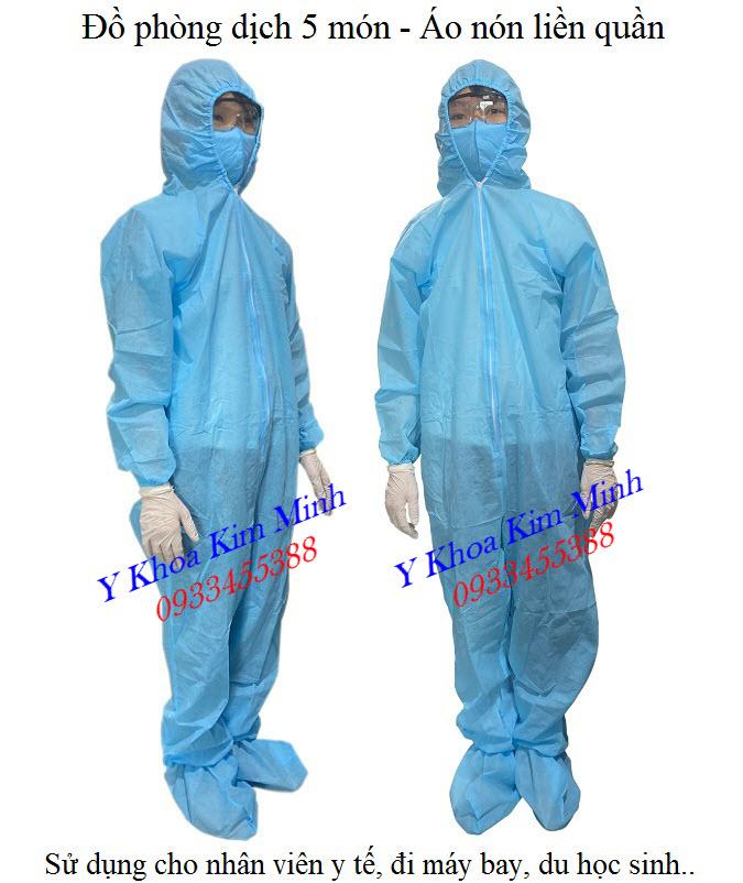 Sản xuất, phân phối bán giá sỉ bộ quần áo phòng dịch vải không dệt 5 món, 7 món tại Tp HCM - Y khoa Kim Minh