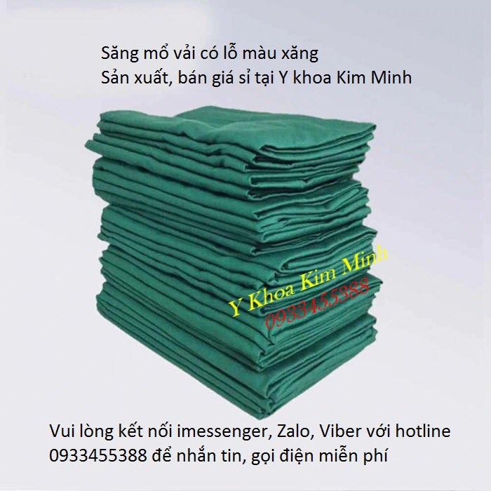 Địa chỉ công ty sản xuất bán giá sỉ săng mổ vải có lỗ màu xanh lá tại Tp Hồ Chí Minh - Y khoa Kim Minh