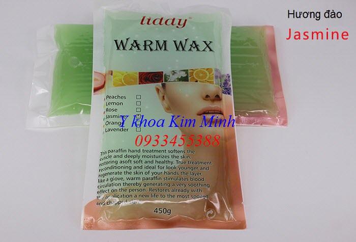 Sáp paraffin hương đào 450 g/bịch dùng ủ tay chân trị bệnh - Y khoa Kim Minh