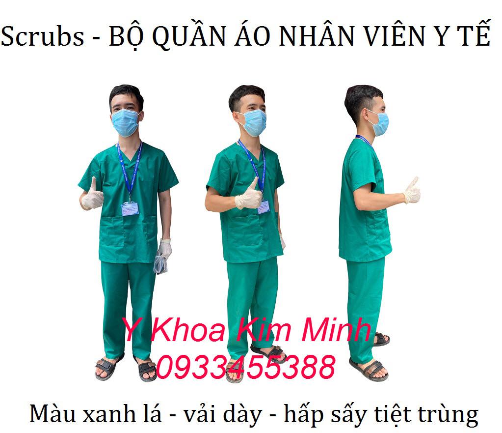 Quần áo scrubs dùng cho nhân viên y tế bán tại Y Khoa Kim Minh