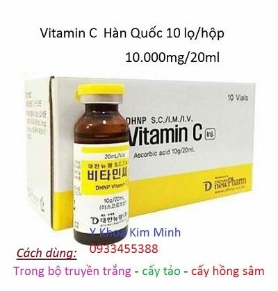 Serum Vitamin C dùng cấy hồng sâm của Hàn Quốc dung tích 20ml - Y Khoa Kim Minh