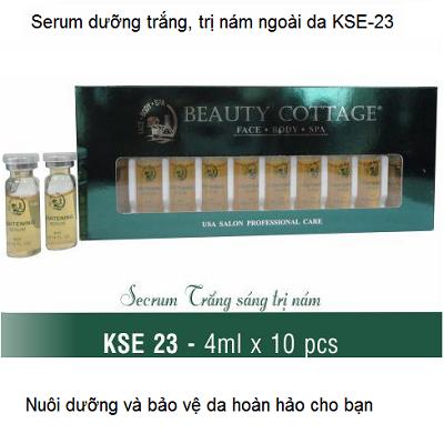 Serum KSE 23 Beauty Cottage nuôi dưỡng da trắng sáng trị nám ngoài da dùng với máy oxy - Y khoa Kim Minh