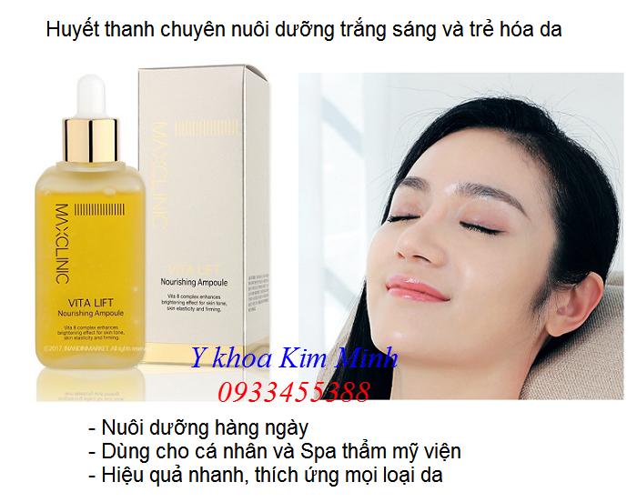 Serum nuoi duong trang min da chay may di duong chat nhap khau Han Quoc - Y Khoa Kim Minh