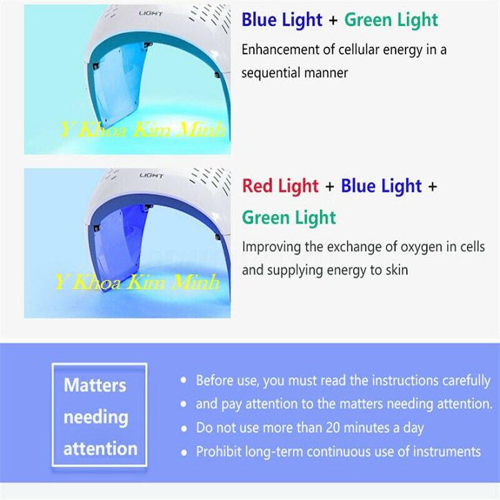 Thời gian sử dụng đèn ánh sáng sinh học Nano Bio Led Dome bao lâu là hiệu quả chăm sóc da - Y Khoa Kim Minh