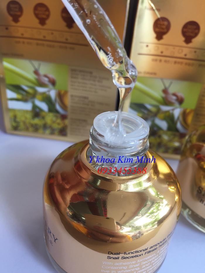 Serum Snail Recovery Hàn Quốc tái tạo da, ngăn mụn, làm mịn và trắng da - Y khoa Kim Minh
