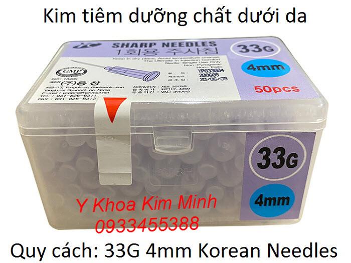 Kim dùng tiêm tế bào gốc của Hàn Quốc 33G 4mm Hàn Quốc - Y Khoa Kim Minh