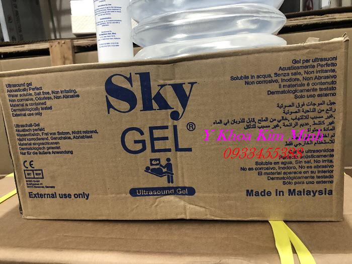 Sky Gel Malaysia 5 lít dùng cho máy thẩm mỹ, là một loại gel siêu âm trắng chất lượng - Y Khoa Kim Minh