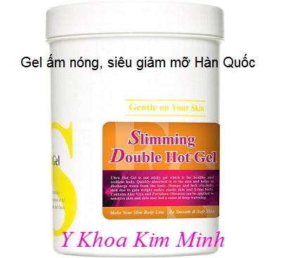 Slimming Doule Hot Gel Estesophy, chuyên loại bỏ mỡ thừa vùng sâu dưới da sau khi dùng tinh dầu phá mỡ giảm béo - Y khoa Kim Minh