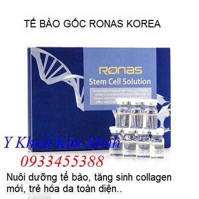 Tế bào gốc Ronas Hàn Quốc (stem Cell Ronas Korea) bán tại Tp Hồ Chí Minh - Y Khoa Kim Minh 0933455388