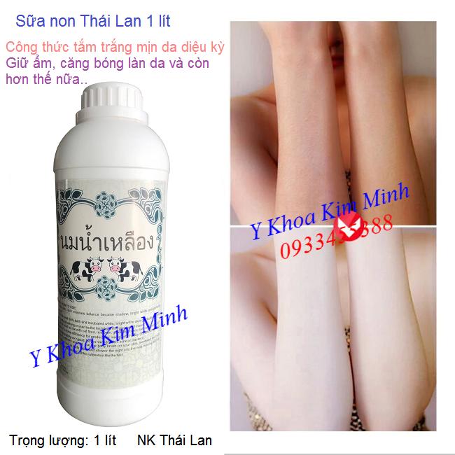 Sữa non Thái Lan dùng trong set tắm trắng trọn bộ trọng lượng 1 lít bán tại Tp Hồ Chí Minh - Y Khoa Kim Minh