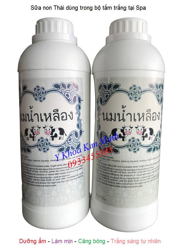 Sua non Thai dung trong bo tam trang spa theo cong thuc lam trang da tu nhien -  Y khoa Kim Minh