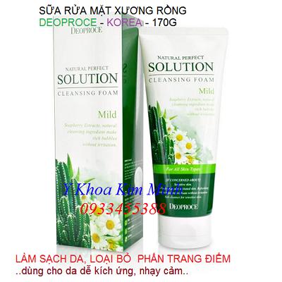 Sua rua mat sieu sach da tinh chat xuong rong Deoproce Han Quoc chay may oxy jet cham soc da - Y khoa Kim Minh
