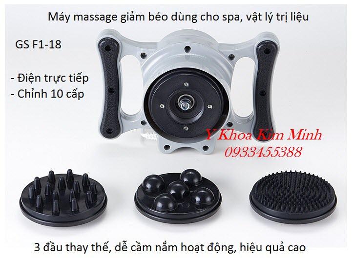 Thông số kỹ thuật máy massage rung giảm béo bụng, giảm béo toàn thân 3 đầu mini cầm tay  GS F1-18 - Y Khoa Kim Minh