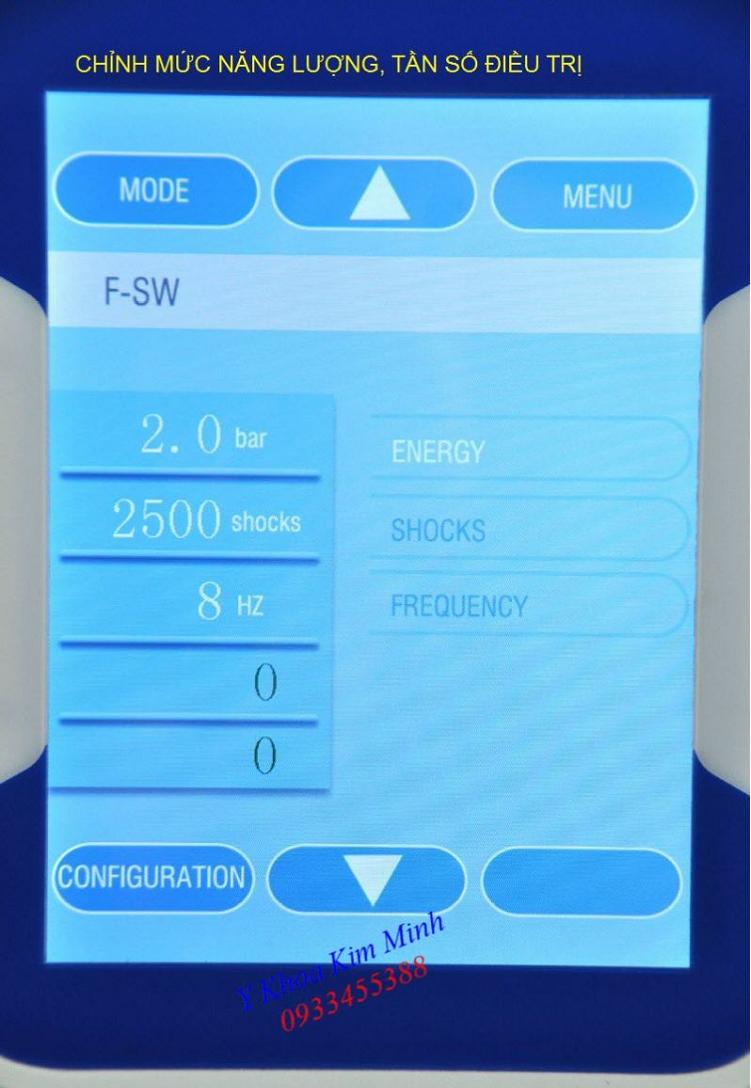 Thông số kỹ thuật máy xung kích shockwave-2019 - Y Khoa Kim Minh 0933455388
