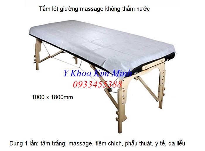 Tấm lót dùng 1 lần để trên giường thẩm mỹ spa massage, tắm trắng - Y Khoa Kim Minh