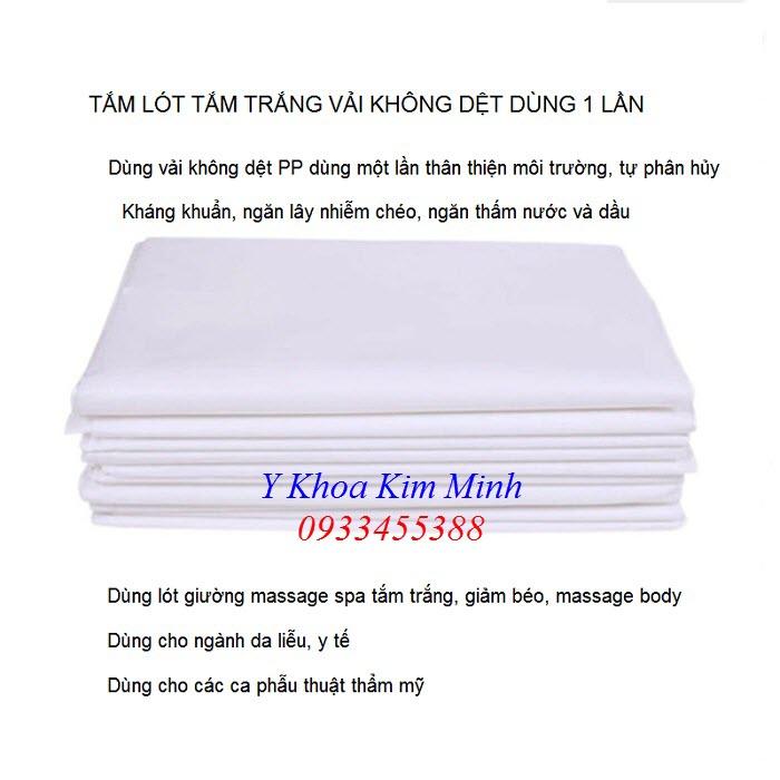 Tấm lót tắm trắng trải giường thẩm mỹ spa bán tại Tp Hồ Chí Minh - Y khoa Kim Minh