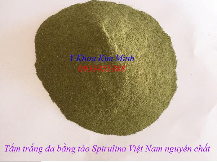 Tắm trắng da bằng bột tảo biển Spirulina Việt Nam nguyên chất - Y Khoa Kim Minh