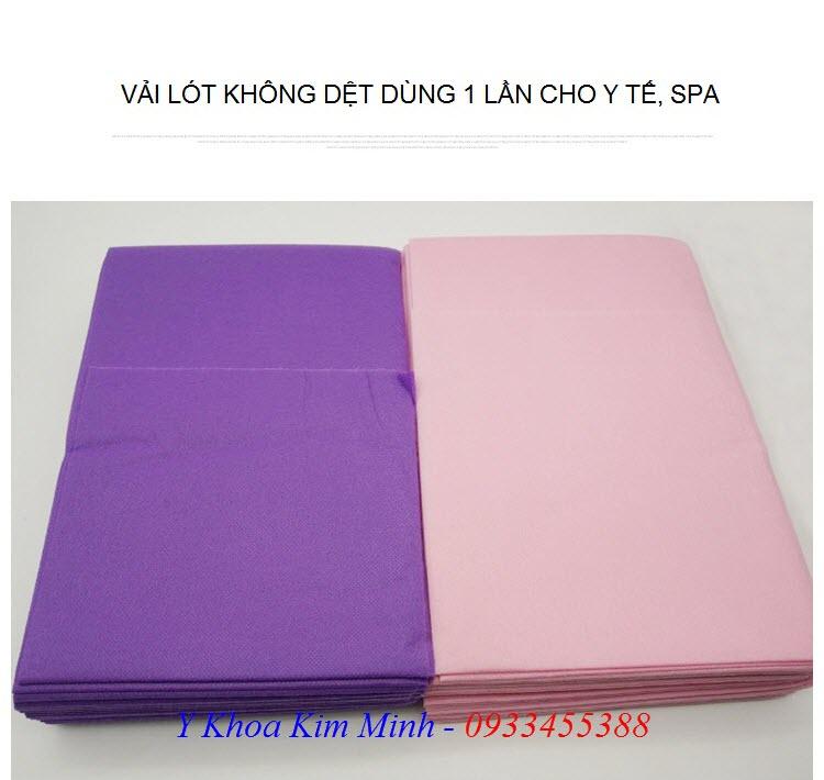 Tấm vả lóti không dệt dùng 1 lần cho y tế spa thẩm mỹ viện - Y khoa Kim Minh 0933455388