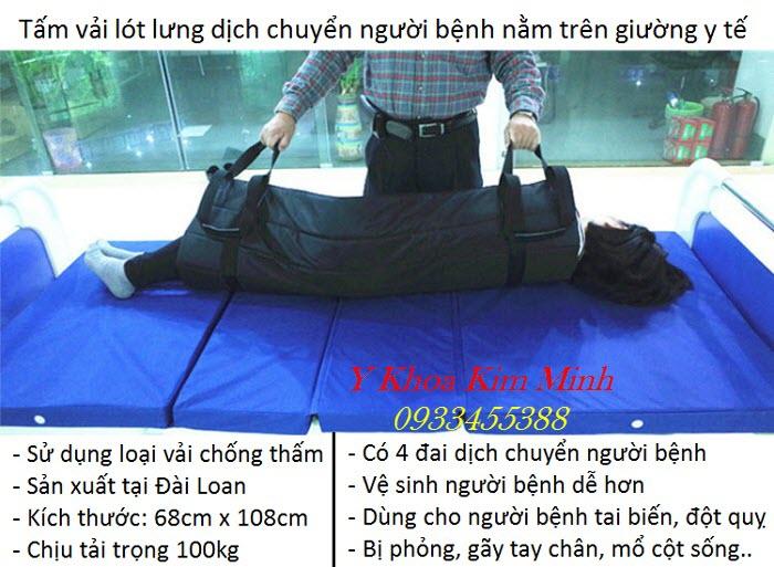 Miếng lật chống thấm, tấm vải lót dịch chuyển vệ sinh người bệnh tại giường y tế - Y Khoa Kim Minh