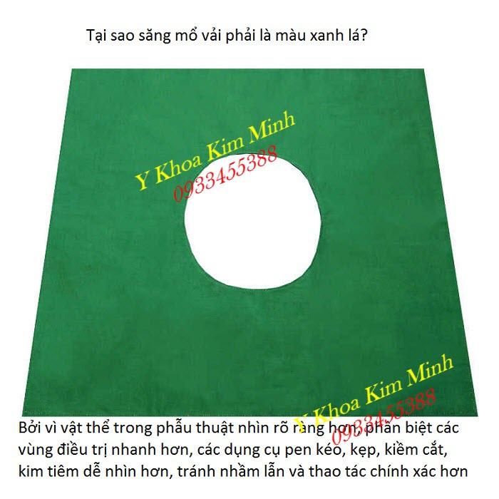 Tại sao phải dùng xăng mổ y tế vài màu xanh lá - Y Khoa Kim Minh