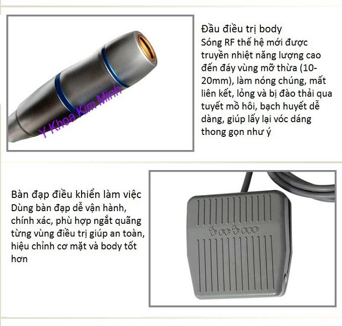 Tay cầm RF giảm béo chuyên nghiệp máy KM-585 - Y Khoa Kim Minh