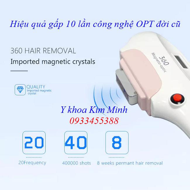 Tay cam may triet long OPT 360 hieu qua gap 10 lan OPT doi cu - Y Khoa Kim Minh 0933455388
