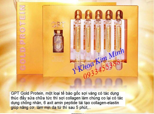 Tế bào gốc sợi vàng Gold Protein GPT xóa nhăn tức thì sau 5 phút đang bán tại Tp Hồ Chí Minh - Y khoa Kim Minh 0933455388