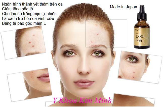 Tế bào gốc mầm E Most 100 giúp làn da của bạn luôn tỏa sáng, một làn da trắng mịn tự nhiên hoàn hảo - Y khoa Kim Minh