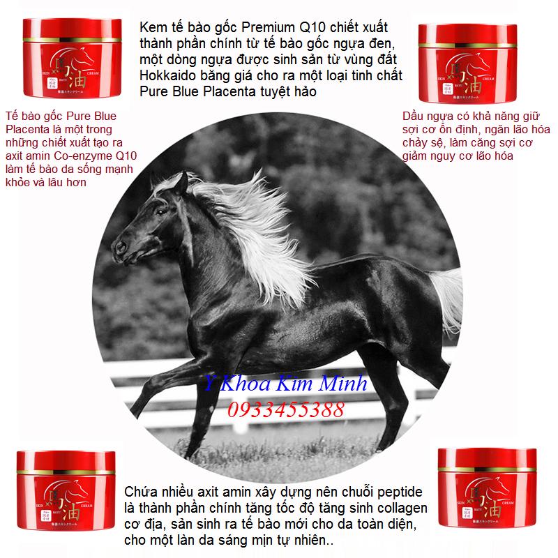 Kem tế bào gốc ngựa Premium Q10 với thành phần Pure Blue Placenta ngăn chặn da lão hóa - Y khao Kim Minh 0933455388