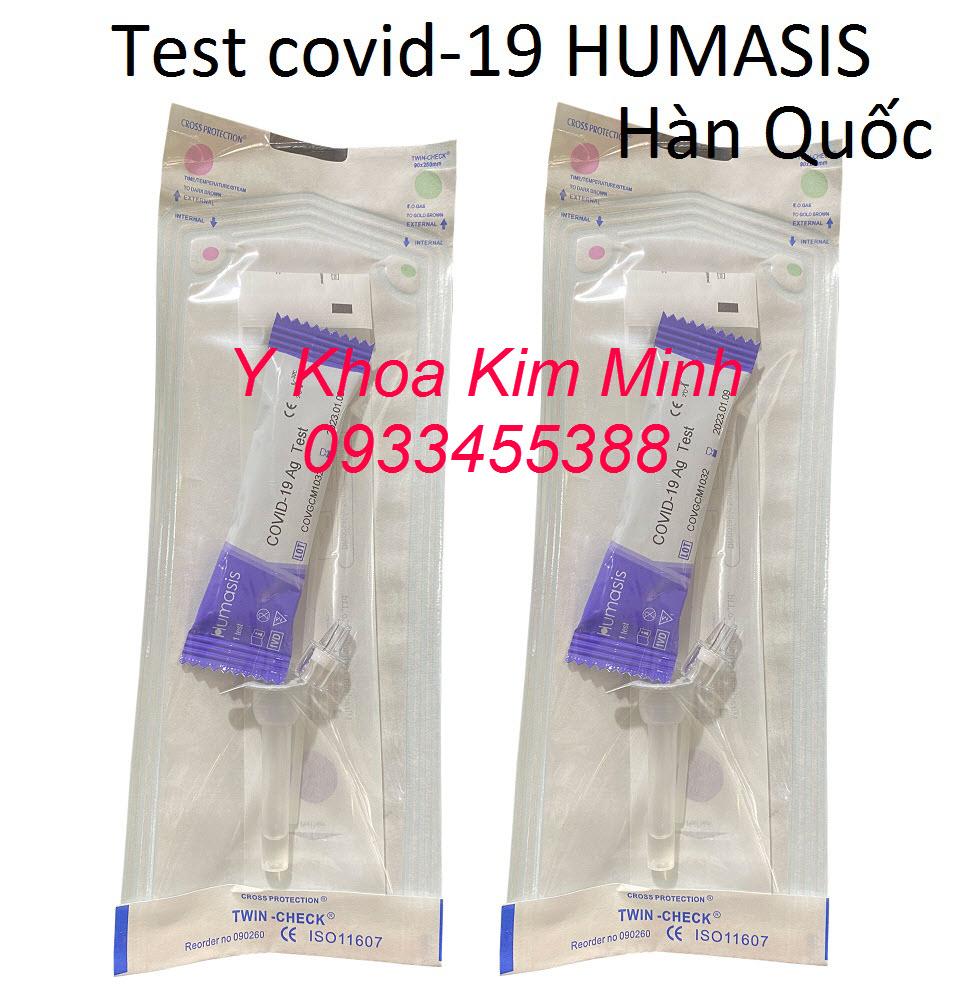 Test Covid Hàn Quốc Humasis bán giá sỉ tại Y Khoa Kim Minh có độ chuẩn xác cao