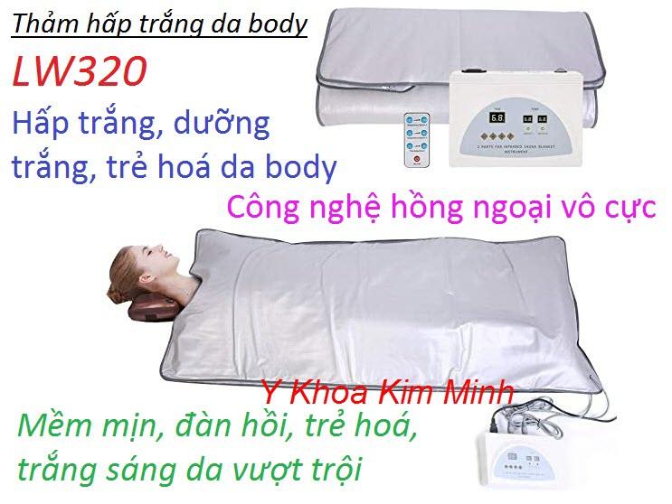Thảm nhiệt hồng ngoại dùng hấp dưỡng trắng da toàn thân vượt trội cung cấp bán giá sỉ tại Y Khoa Kim Minh