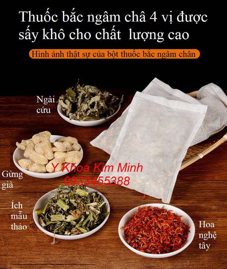 Thành phần thảo dược của thuốc bắc ngâm chân 4 vị - Y khoa Kim Minh