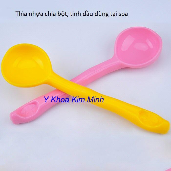 Thia muong nhua 20ml dong chia bot dap mat na facial, body dung cho spa - Y khoa Kim Minh