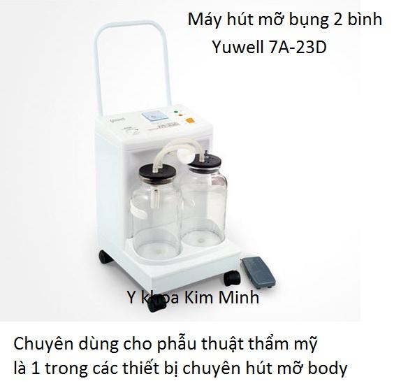 Máy hút mỡ bụng chuyên dùng cho phẫu thuật thẩm mỹ Yuwell 7A-23D - Y Khoa Kim Minh