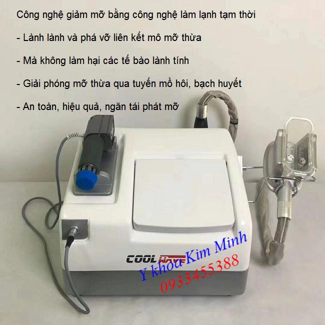 Máy phá mỡ giảm béo công nghệ quang đông và shock điện sinh học ma trận - Y khoa Kim Minh 0933455388